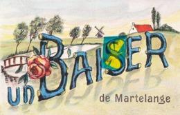 Un BAISER De MARTELANGE - Carte Colorée - Martelange