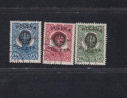 Pologne 1919 Yvert 108 / 110 Oblitérés Timbres D'Autriche Hongrie Surchargés O Lublin. (2052t) - 1919-1939 Republik