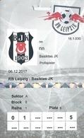 Sport Ticket UL000783 - Football (Soccer Calcio) Besiktas Vs Leipzig 2017-12-06 - Tickets D'entrée