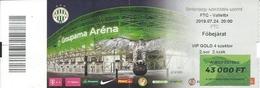 Sport Ticket UL000785 - Football (Soccer Calcio) Ferencvarosi Vs Valletta - Tickets D'entrée