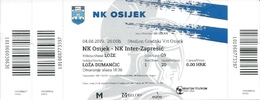 Sport Ticket UL000786 - Football (Soccer Calcio) Osijek Vs Inter Zapresic 2019-08-04 - Tickets D'entrée