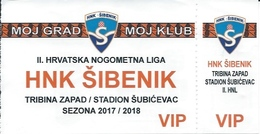 Sport Ticket UL000787 - Football (Soccer Calcio) Sibenik VIP 2017/2018 - Tickets D'entrée