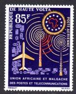 UPPER VOLTA - 1963 POSTAL UNION TELECOMMUNICATIONS 85F STAMP FINE MNH ** SG 134 - Upper Volta (1958-1984)