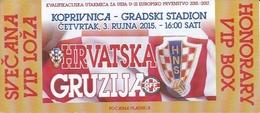 Sport Ticket UL000790 - Football (Soccer Calcio) Croatia Vs Georgija 2015-09-03 - Tickets D'entrée