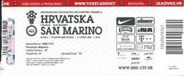 Sport Ticket UL000793 - Football (Soccer Calcio) Croatia Vs San Marino 2016-06-04 - Tickets D'entrée