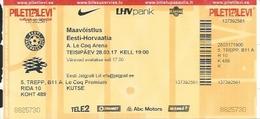 Sport Ticket UL000794 - Football (Soccer Calcio) Estonia Vs Croatia 2017-03-28 - Tickets D'entrée