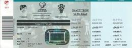 Sport Ticket UL000796 - Football (Soccer Calcio) Turkey Vs Croatia 2017-09-25 - Tickets D'entrée