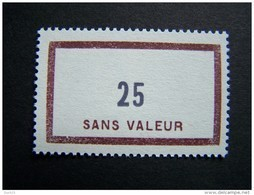 FICTIFS NEUF ** N°F137 SANS CHARNIERE (FICTIF F 137) - Phantomausgaben