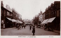 LITTLEHAMPTON : SURREY STREET : HERBERTS MOTOR GARAGE / MICHELIN TYRES - CARTE VRAIE PHOTO / REAL PHOTO ~ 1915 (ad587) - Autres