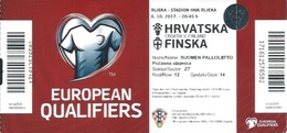 Sport Ticket UL000797 - Football (Soccer Calcio) Croatia Vs Finland 2017-10-06 - Tickets D'entrée