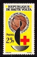 UPPER VOLTA - 1963 RED CROSS ANNIVERSARY 25F STAMP FINE MNH ** SG 135 - Upper Volta (1958-1984)