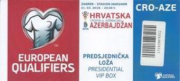 Sport Ticket UL000799 - Football (Soccer Calcio) Croatia Vs Azerbaijan 2019-03-21 - Tickets D'entrée