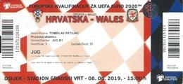 Sport Ticket UL000800 - Football (Soccer Calcio) Croatia Vs Wales 2019-06-08 - Tickets D'entrée
