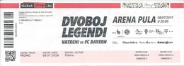 Sport Ticket UL000801 - Football (Soccer Calcio) Croatia (generation 1998) Vs Bayern 2019-07-08 - Tickets D'entrée