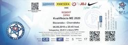 Sport Ticket UL000802 - Football (Soccer Calcio) Slovakia Vs Croatia 2019-09-06 - Tickets D'entrée