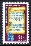 UPPER VOLTA - 1963 DECLARATION OF HUMAN RIGHTS  ANNIVERSARY 25F STAMP FINE MNH ** SG 137 - Upper Volta (1958-1984)