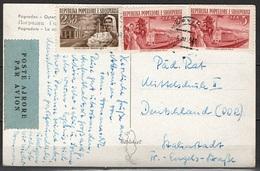 Albanien Grusskarte Pogradec Nach Stalinstadt - Albanie