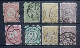 NEDERLAND  1876   Nr. 30 - 33 /  30 A - 33 A     Gestempeld    CW  13,00 - 1852-1890 (Wilhelm III.)