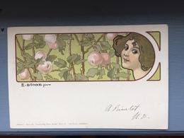 CP Art Nouveau E.Döcker - Doecker, E.