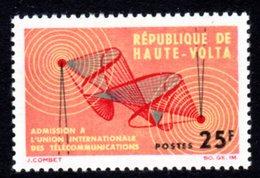 UPPER VOLTA - 1964 ITU INTERNATIONAL TELECOMMUNICATIONS UNION 25F STAMP FINE MNH ** SG 139 - Upper Volta (1958-1984)