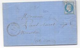 1868 - ALLIER - LETTRE De MEAULNE Avec T22 (MOIS RENVERSE + SANS ANNEE)+ GC 2297 - IND 12 => MONTBARD - Marcophilie (Lettres)