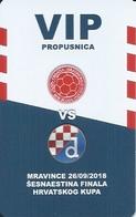 Sport Ticket UL000807 - Football (Soccer Calcio) Sloga Mravince Vs Dinamo Zagreb 2018-09-26 - Tickets D'entrée