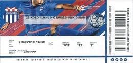 Sport Ticket UL000810 - Football (Soccer Calcio) Rudes Vs Dinamo Zagreb 2019-04-07 - Tickets D'entrée