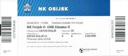 Sport Ticket UL000812 - Football (Soccer Calcio) Dinamo Zagreb Vs Osijek 2019-04-28 - Tickets D'entrée