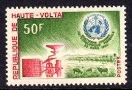 UPPER VOLTA - 1964 WORLD METEOROLOGICAL DAY 50F STAMP FINE MNH ** SG 142 - Upper Volta (1958-1984)