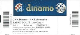 Sport Ticket UL000813 - Football (Soccer Calcio) Dinamo Zagreb Vs Lokomotiva 2019-05-05 - Tickets D'entrée