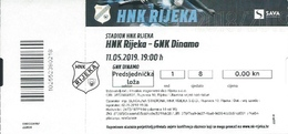 Sport Ticket UL000814 - Football (Soccer Calcio) Rijeka Vs Dinamo Zagreb 2019-05-11 - Tickets D'entrée