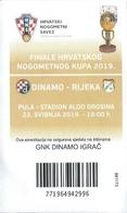 Sport Ticket UL000816 - Football (Soccer Calcio) Dinamo Zagreb Vs Rijeka 2019-05-22 - Tickets D'entrée