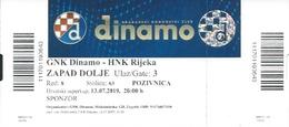 Sport Ticket UL000817 - Football (Soccer Calcio) Dinamo Zagreb Vs Rijeka 2019-07-13 - Tickets D'entrée