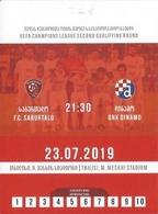 Sport Ticket UL000819 - Football (Soccer Calcio) Saburtalo Tbilisi Vs Dinamo Zagreb 2019-07-23 - Tickets D'entrée
