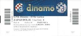 Sport Ticket UL000820 - Football (Soccer Calcio) Dinamo Zagreb Vs Gorica 2019-08-02 - Tickets D'entrée