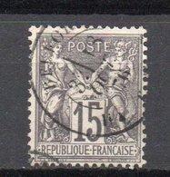 - FRANCE N° 66 Oblitéré CAD - 15 C. Gris Type Sage I - Cote 18 EUR - - 1876-1878 Sage (Type I)