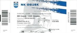 Sport Ticket UL000821 - Football (Soccer Calcio) Osijek Vs Dinamo Zagreb 2019-08-09 - Tickets D'entrée