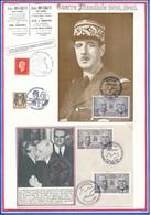 FRANCE - CARTE + ENVELOPPE COOPERATION FRANCO ALLEMANDE 14 JANVIER 1988 - Guerre Mondiale (Seconde)