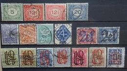 NEDERLAND  1921-23    Nr. 107 - 109 / 110 - 113 En 114 - 120       Gestempeld    CW  15,50 - 1891-1948 (Wilhelmine)