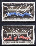 UPPER VOLTA - 1964 UPU UNIVERSAL POSTAL UNION 1st ANNIVERSARY SET (2V) FINE MNH ** SG 143-144 - Upper Volta (1958-1984)