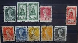 NEDERLAND  1923    Nr.  121 - 129      Gestempeld    CW 21,00 - 1891-1948 (Wilhelmine)