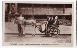 ANE * VOITURES MAROUF * EXPO COLONIALE PARIS 1931 * TRANSPORT * Carte Sépia & Brillante  * SPA - Anes