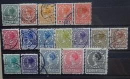 NEDERLAND  1924    Nr. 149 - 162 / 163 - 165      Gestempeld    CW  35,00 - 1891-1948 (Wilhelmine)