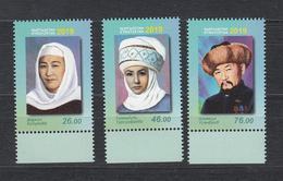 Kirgistan Kyrgyzstan MNH** 2019 Figures Of Culture  Mi 961-63 A - Kirgisistan
