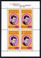 UPPER VOLTA - 1964 PRESIDENT KENNEDY COMMEMORATION MS FINE MNH ** SG MS152a - Upper Volta (1958-1984)