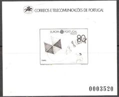 Portugal Madeira 1989 Europa: Children Games, Souvenir Bloc With Mi 125, Blackprint, MNH(**) - Madeira