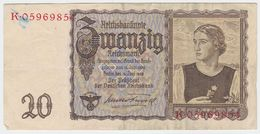 Germany P 185 - 20 Reichsmark 16.6.1939 - Fine+ - [ 4] 1933-1945: Derde Rijk
