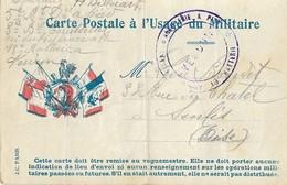 CPFM à L'usage Du Militaire + Cachet Artillerie 13eme Batterie VERDUN - Postmark Collection (Covers)