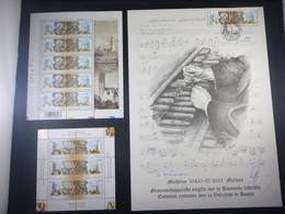 """BELG.2003 3170/3171 FDC Filatelic Card (A4) : """" Unieke Mooie Kaart Met Handtekening Guillaume Broux (ontwerper Kaart )"""" - FDC"""