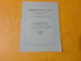 STATUTO SOCIALE U.V.A.M- UNIONE VITICULTORI AGRO MARSALESE .- MARSALA-1954 - Italia